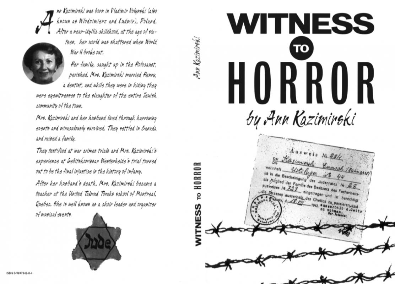 Ann Kazimirski Witness To Horror